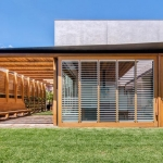 Breezway Louvres: Stained Timber and Breezway Louvres