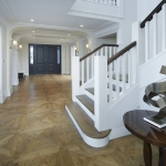 Access Flooring: French Oak Parquetry Versaille Pattern Stained Mid Brown