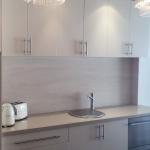 WA GlassKote: Groutless Tile Splashback (Laminam - Travertino)