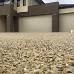 All Class Concrete: Exsposed Aggregate Driveway