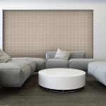 Midland Brick: Tranquil Modern Grey Living Room Exposed Brick