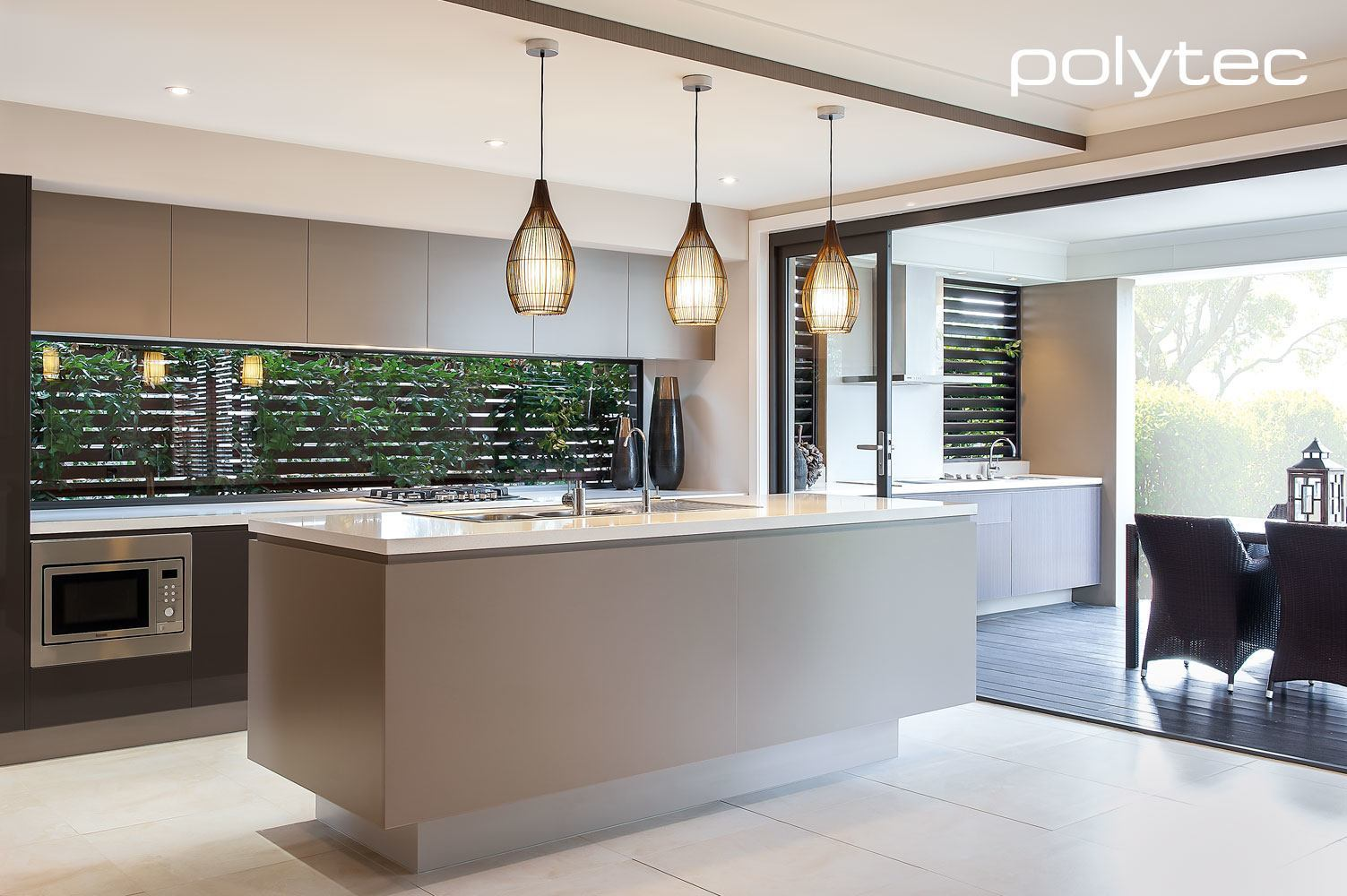Polytec home base for Matt black kitchen doors
