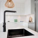 Oliveri Solutions: Matte Black Mito Tap and Coloured Spectra Sink
