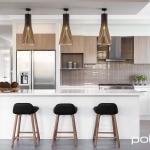 Polytec: Melamine Overhead Cupboards: Tessuto Milan Matt. Melamine Doors: Classic White Sheen