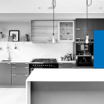 eKitchens: Custom Flat Packed Kitchen with Integrated Fridge/Freezer Cabinets