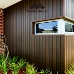 NewTechWood Composite Decking: Cladding in Walnut