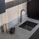 Oliveri Solutions: Spectra Gunmetal Sink and Vilo Pullout Spray Mixer